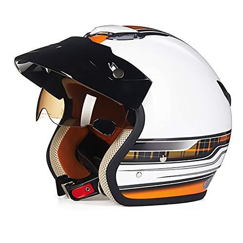 De enige goede kwaliteit Mooie Heldere Wit Oranje ABS Volwassen Fietshelm Rijden Elektrische Auto Motorhelm Fiets Mountainhelm Outdoor Riding Equipment Mode