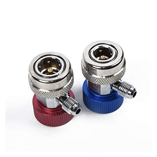 Conector de la manguera de conexión del sistema 2 piezas de adaptador adaptador de coche de coches Aire acondicionado conector rápido de alta y baja presión de la instalación de aire acondicionado