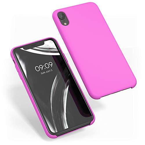 kwmobile Cover Compatibile con Apple iPhone XR - Custodia in Silicone TPU - Back Case Protezione Cellulare Magenta