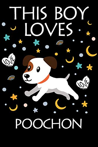 This Boy Loves Poochon Notebook : Simple Notebook,  Awesome Gift For...