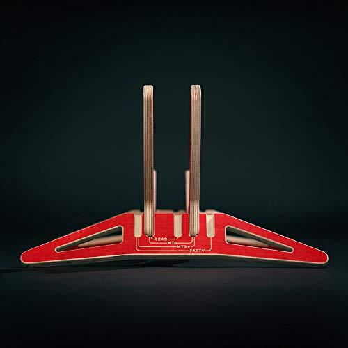 MTB Hopper Universal-Fahrradständer für Road, City-, Mountain und Fat-Bikes – Smile(Rot)