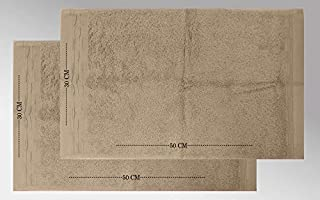 Mora Cotton Towel, 30 cm x 50 cm, Beige (Pack of 2)