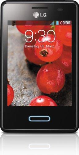 LG E430 Optimus L3 II Smartphone (8,1 cm (3,2 Zoll) Touchscreen, 1GHz, 512MB RAM, 3,2 Megapixel Kamera, Android 4.1) glänzend-schwarz
