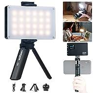 VILTROX LED On Camera Video Light, Video Conference Lighting Kit with Mini Tripod, Pocket Photo Light Bi-Color 2500-8500K Panel Lights Photography Lighting for Video Recording Photoshoot Zoom Lighting