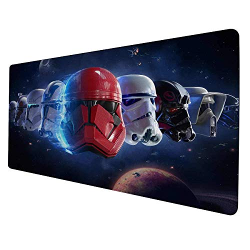Large Gaming Mouse Pad Battlefront 2-Non-Slip Rubber Base-Waterproof-3mm Thick-Portable Cloth Design-Anti-Fraying Stitched Frame-Smooth Gaming Mat-Great for Computer & Laptop-15.7x35.4 inch