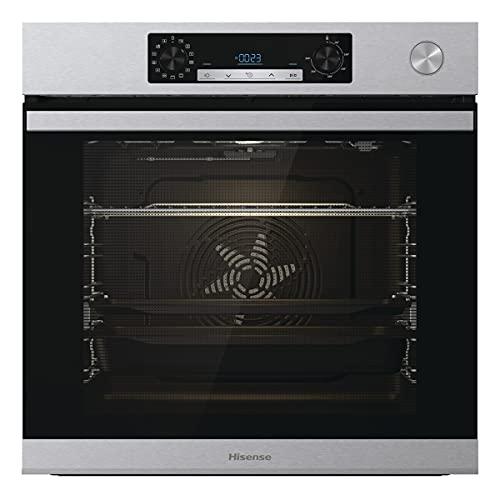 Hisense BSA66226AX, Forno Multifunzione Termoventilato con Generatore di Vapore, Cavità XXL 77L, Pulizia Acqua Cleaning, 13 Funzioni di Cottura, Cottura Combinata a Vapore, Funzione Pizza 300 °C