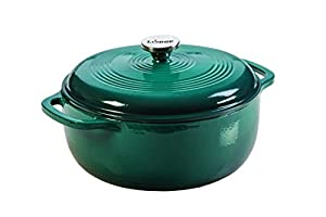 6 Quart Enameled Cast Iron Dutch Oven Broil, braise, bake or roast in the oven up to 500 Degree F Sauté, simmer or fry on any stovetop Unparalleled in heat retention and even heating Smooth glass surface won't react to ingredients
