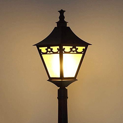 Raelf European Outdoor Waterproof Lawn Lamp Victorian Glass Lantern Aluminum Metal Garden Villa Floor Lamp Pole View Road Lights Classic E27 High Light Landscape Street Light For Park Path Decor Fixtu