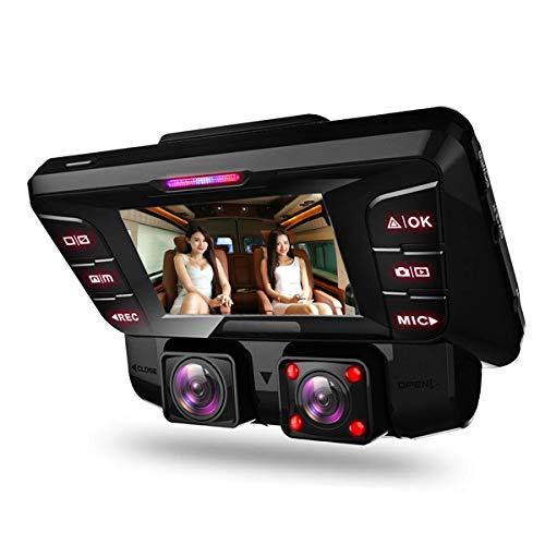 4K WiFi Dashcam Auto Vorne Hinten Dual Kamera mit Bewegungsmelder Infrarot Nachtsicht Akku Parküberwachung WDR Loop-Aufnahme G-Sensor,Autokamera Camcorder Tiberwachung Dash Cam DVR