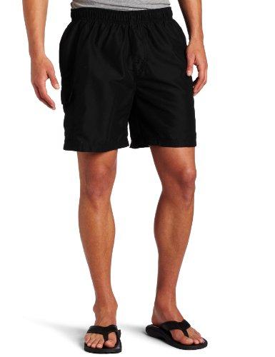 Kanu Surf Men's Swim Trunks (Regular & Extended Sizes), Havana Black, Large
