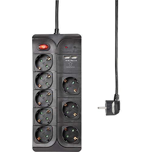 Renkforce 1574788 Überspannungsschutz-Steckdosenleiste 1 Stück Schwarz 1 St.