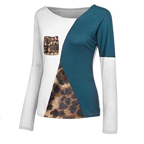 Maglietta da Donna Sexy T-Shirt Maniche Lungo Tinta Unita Eleganti Top Camicetta Autunno Invernali,S-2XLFelpe Donna Sexy Pizzo O-Collo Manica Lunga Signora T-Shirt Camicie Casual Camicetta