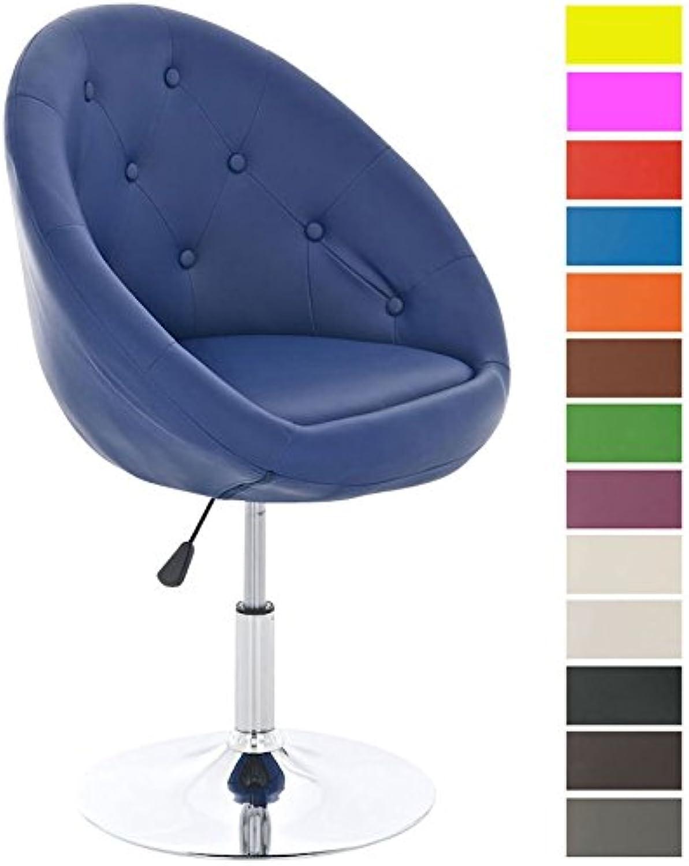 CLP Lounge-Drehsessel London mit hochwertiger Polsterung und Kunstlederbezug  Hhenverstellbarer Clubsessel erhltlich Blau