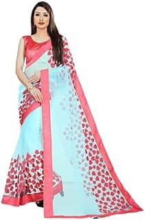 Neerav Exports Embroidery Net Work Saree (Firozi)