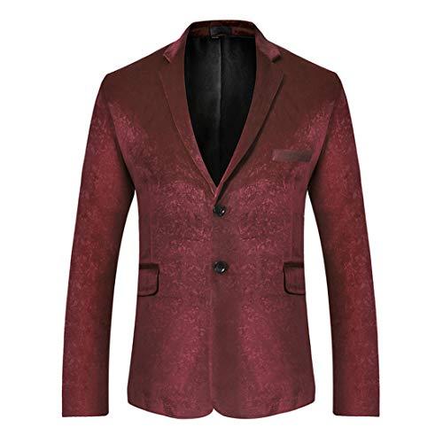 Men's Slim Fit Suits Blazer Business Casual Jacket Chic Smart Modern Blazer Jacket Working Office Christmas Stylish Wedding Gentlemen Outfit Formal Blazer Jacket Casual Xmas Coats M
