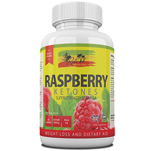 Raspberry Ketones Fruit Extract Capsules - High Strength Caffeine Free Raspberries Supplements - Diet & Cleanse Support Pills for Men and Women - Manufactured in The UK & GMP Certified