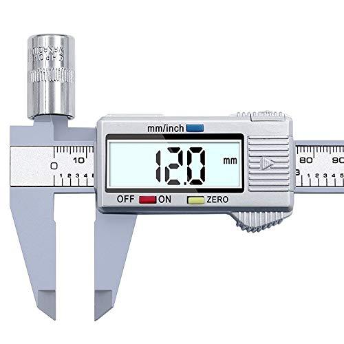 Digitaler Vernier Calipers150mm 6inch LCD elektronische Carbon Fiber Messgerät Höhenmessgeräte Mikrometer