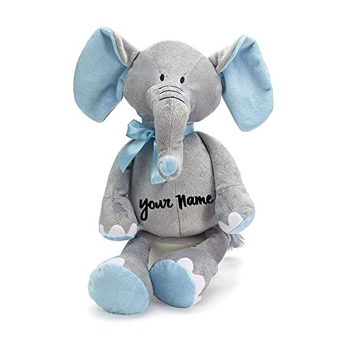 Personalized Baby Stuffed Animals, Personalized Baby Elephant Grey And Pink Buy Online In Cambodia At Desertcart
