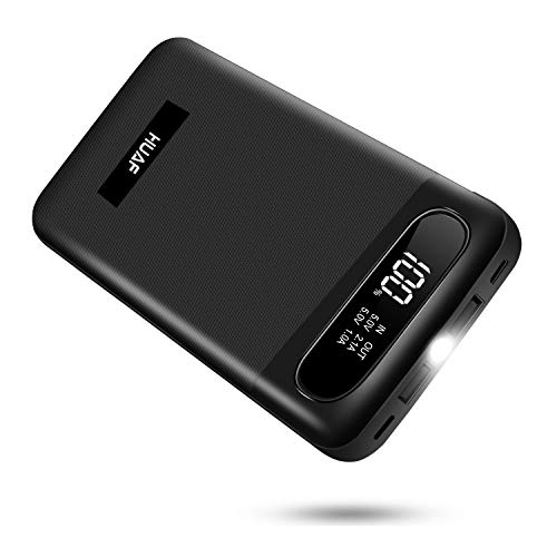 Power Bank Portable Charger 24000mAh Huge Capacity Battery Pack with 3 Inputs 2 Outputs Backup Battery Compatible Smart Devices Tablet Android Phone and Other Cellphones