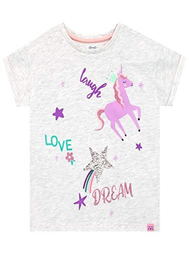 Harry Bear Camiseta de Manga Corta para niñas Unicornio Gris 18-24 Meses