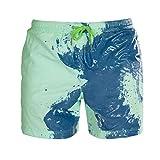 DIONGS Bañadores Que cambian de Color Bañadores para Hombres Bañadores Shorts Calzoncillos Traje de baño Sunga Green XL