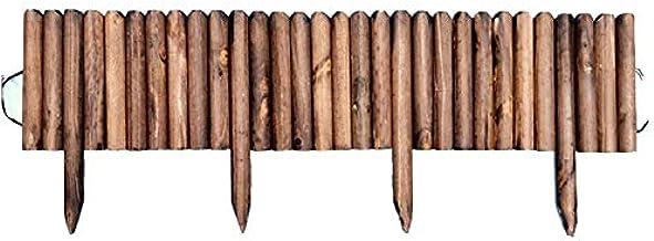Spiked Log Roll Border Eenvoudige Plug-in Fence Palissade corrosiebestendige Houten Edging Omheining for bloembedden Grasv...