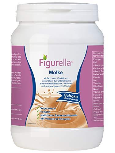 Abnehmen mit Molke | Süßmolkenpulver mit Eiweiß für Trennkost, Molkenfasten, Diät, Entwässerung, Entschlackung, Entgiftung | Der Vital-Shake und Wellnessdrink | Figurella Molke (Schokolade 750 g)