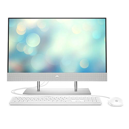 HP 27-dp0025ng (27 pollici/FHD) All-in-One (Intel Core i7-10700T, 8 GB DDR4 RAM, SSD da 512 GB, grafica Intel UHD, Windows 10), argento