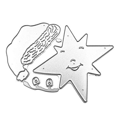 Fafalloagrron Stanzschablone, Weihnachtsmütze, Sterne, zum Basteln, Scrapbooking, Album, Stempel, Papier