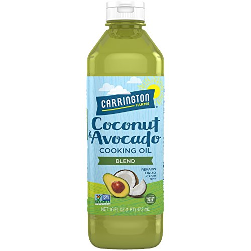 Carrington Farms gluten free, hexane free, NON-GMO, free of hydrogenated and trans fats in a BPA free bottle, liquid coconut and avocado cooking oil, 16 Fl Oz