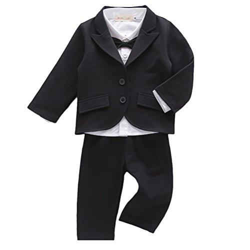 Zhhlinyuan Three-Piece Little Boy Coat + Shirt + Pants Classic Long Sleeve Gentleman Set