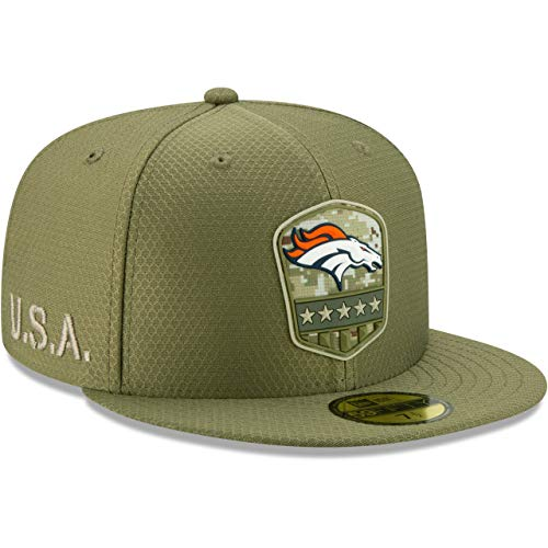 New Era Denver Broncos 59fifty Basecap On Field 2019 Salute to Service Olive - 7 3/4-62cm