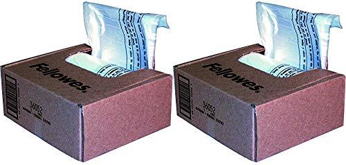 Fellowes Powershred Bolsas para trituradora para todos los modelos personales, 100 bolsas y corbatas (36052)-2 unidades