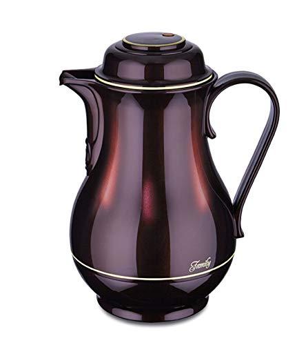 ROTPUNKT Isolierkanne 830 1,2 Liter | Doppelwandige Vakuumisolierung | Zweifunktions-Drehverschluss | BPA Frei- gesundes Trinken | Made in Germany | Warm + Kalthaltung | Glaseinsatz (Black Cherry)