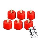 Kerzenlicht Fernbedienung Led-Kerzen Packung Mit 6 Warmweißen Led-flammenlosen Kerzen, Batteriebetrieben, Mit Tanzflamme