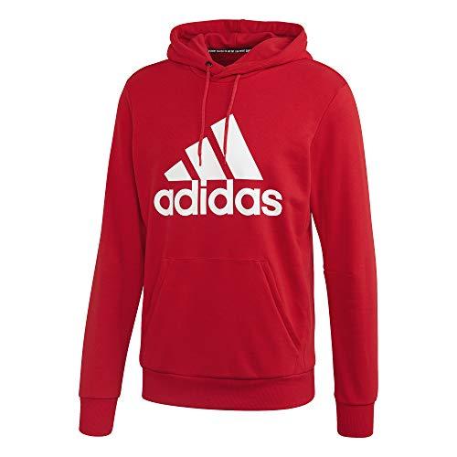 adidas Herren MH BOS PO FT Sweatshirt, Scarlet/White, 3XL