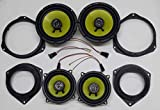 GENERALCAR Kit de altavoces + soportes + cables para Fiat Grande Punto delanteros y traseros