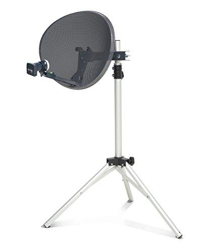 SSL Zone 1 Mini Dish Kit for Sky HD Freesat Hotbird Polesat Satelite dish Quad LNB Kit for Camping, Carvan or holiday home.