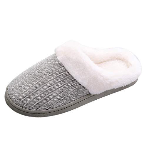 Rebaño Caliente Piso Antideslizante Zapatillas De Casa Mujer Nube A Rayas ParejasZapatos De Interior Tipo C