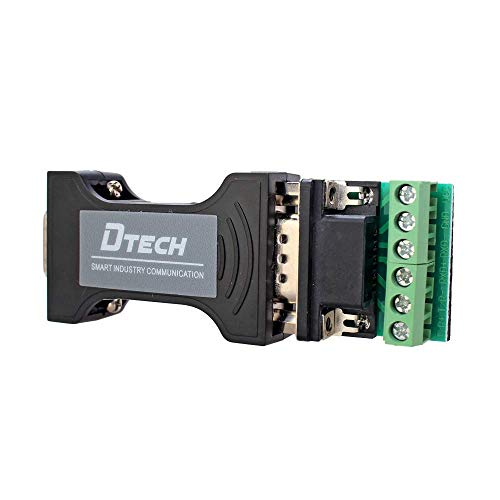 DTECH RS232C to RS485 RS422 変換 コンバーター アダプター Portpower シリアル ポート 給電 RS-232 ⇔ RS-485/RS-422 変換器 データ コンバータ TVS内蔵
