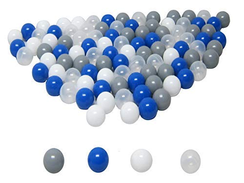 """100 palline da 6 cm """"mix blu"""" (testato TÜV e certificato 2019) per palline, palline per bambini, palline di plastica"""