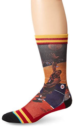 Stance Men's Alonzo Mourning Miami Heat Crew Socks, Black, Sock...
