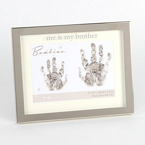 Me and my brother Hand Print 17,8x 12,7cm Bilderrahmen Baby Geschenk