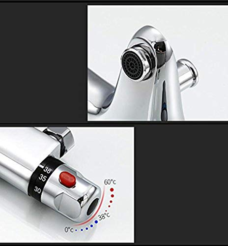 Solepearl Chrome Thermostatic Shower Mixer Modern Thermostatic Bar Shower Mixer Valve Anti Scald Tap, Exposed…