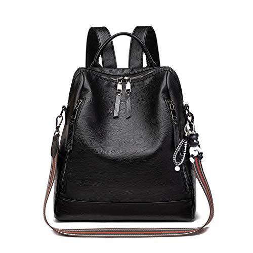 BUKESIYI Women's Backpack Handbags Rucksack Shoulder Bags PU Leather Mini Kawaii Anti-theft CCUK78269 Black
