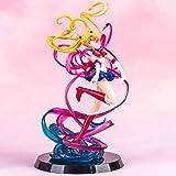 zxwd Escultura Modelo Sailor Moon Juguete Decoración Estatua Personaje de Dibujos Animados Artesanía Regalo de cumpleaños de Alta Gama, Coleccionable, Recuerdo 20cm Decoración de la casa