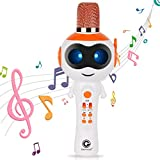 edola Kids Bluetooth Microphone Wireless Karaoke Singing Microphone for Kids Bluetooth Microphone Karaoke