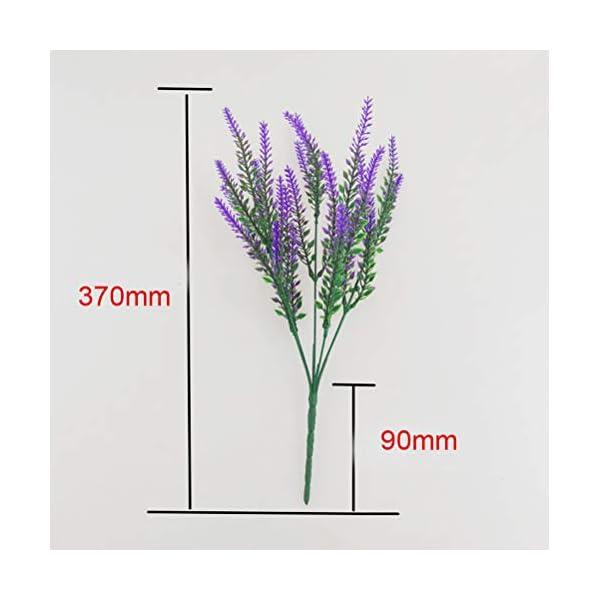 SUNFUA 6 Pcs Flores Artificiales de Lavanda Artificial Lavanda Bouquet para Hogar y Decoración de Boda (Púrpura, Rosa…