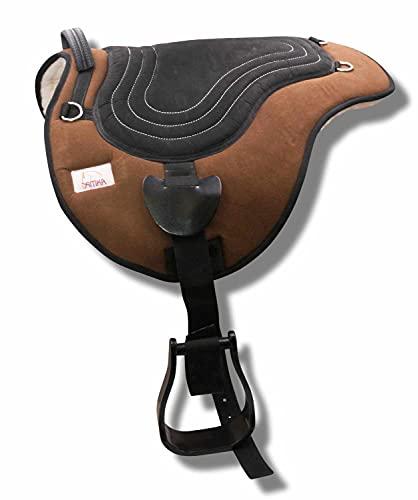 AMKA Soft Seat Bareback Pad Reitpad Reitkissen weich gepolstert mit Sattelgurt Pony