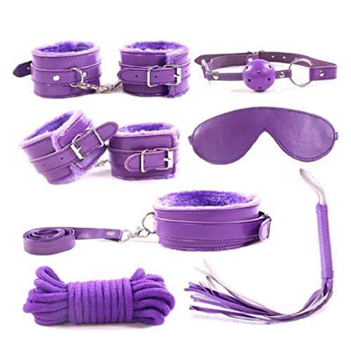 QSCDF Yoga Kontakt - □ ond □ gé Toys for Paare 7PCS S □ x-Ansatz zu Wrist und Ankle Straps (Color : Purple)